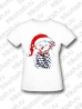 Футболка женская Сова-снеговик