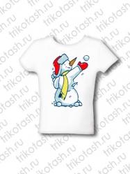 Футболка детская Снеговик-ушанка