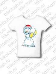 Футболка детская Снеговик желт.варежки