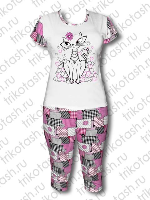 Пижама Кошка с сердечками