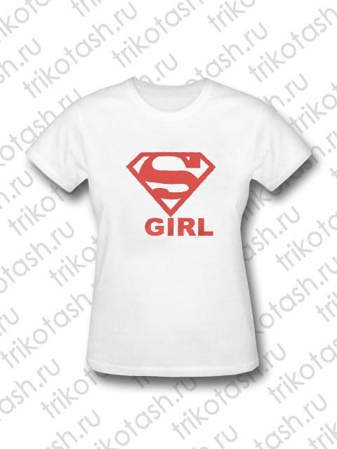 Футболка женская SuperGirl