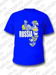 Футболка мужская Russia Синяя