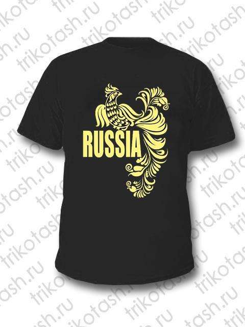 Футболка мужская Russia Чёрная
