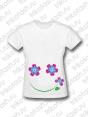 Футболка женская Цветочный смайл розовый (для беременных)