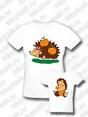 Комплект семейных футболок Ежи