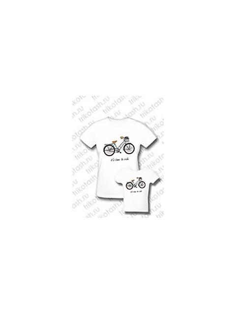 Комплект семейных футболок Футболок Велосипеды.