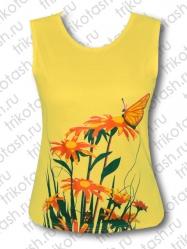 Майка Бабочка на цветах