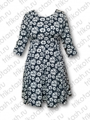 Платье Складки хопок-стрейч