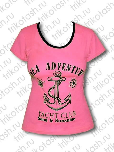 Футболка Sea adventure ярко-розовый