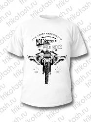 Футболка мужская Motorcycle белая