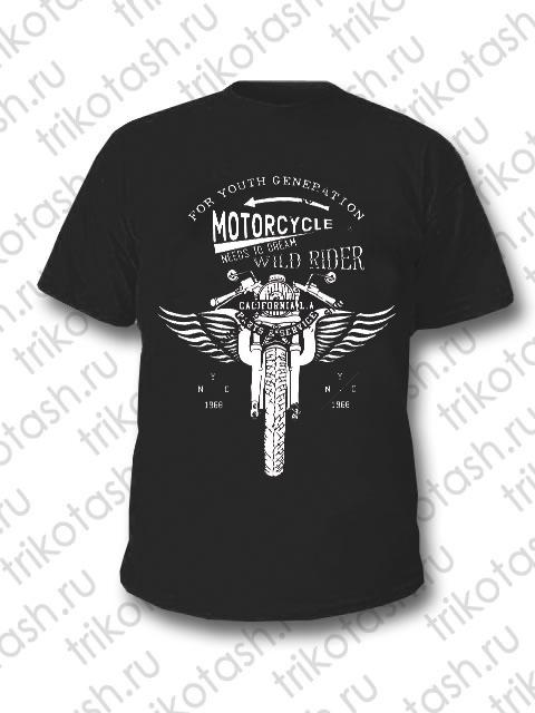 Футболка мужская Motorcycle чёрная