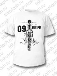 Футболка мужская 09 Rider белая
