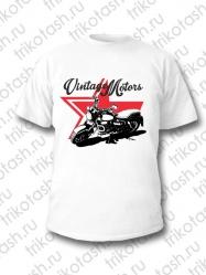 Футболка мужская Vintage Motors Звезда белая