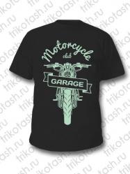 Футболка мужская Motorcycle club GARAGE чёрная