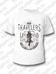 Футболка мужская Travellers белая