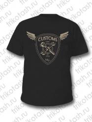 Футболка мужская Customs чёрная