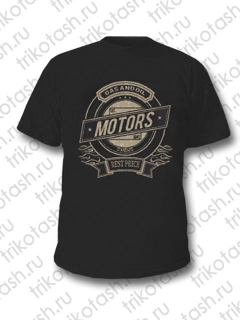 Футболка мужская Motors чёрная