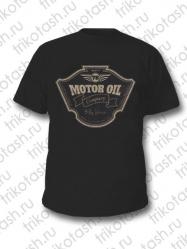 Футболка мужская Motor oil чёрная