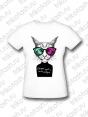 Футболка женская Кот в очках