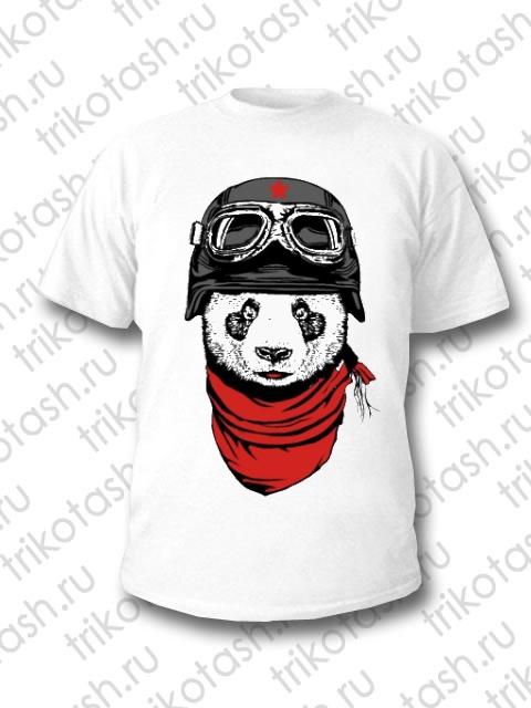 Футболка мужская Панда в шлеме